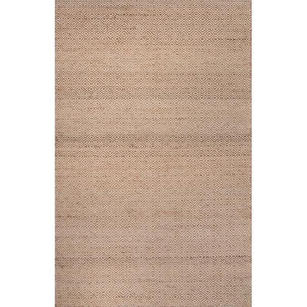 Geometric Pattern Natural/ Ivory Wool/ Hemp Area Rug (8'x10')