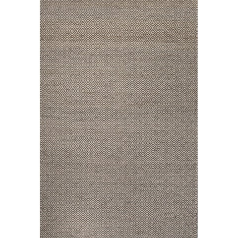 Merit Natural Geometric Tan/ White Area Rug (8' x 10') - 8' x 10'