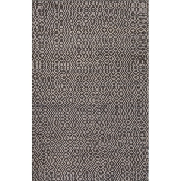 Merit Natural Geometric Gray/ White Area Rug (8' x 10') - 8' x 10'
