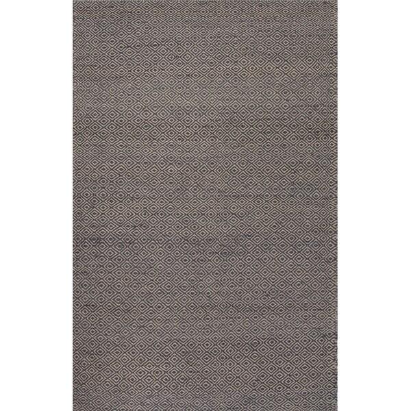 Merit Natural Geometric Gray/ White Area Rug (5' X 8')