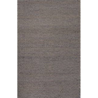 Merit Natural Geometric Gray/ White Area Rug (4' X 6')