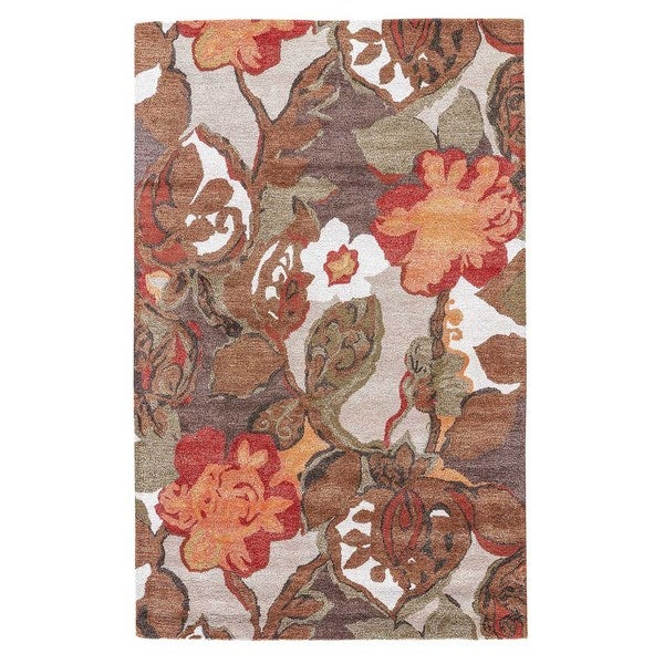 Clemente Handmade Fl Light Gray Multicolor Area Rug 12 X 15 Free Shipping Today 16383668