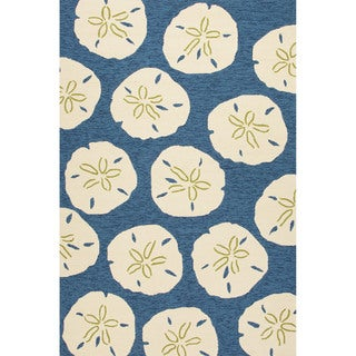 Abstract Pattern Blue/ Ivory Area Ru