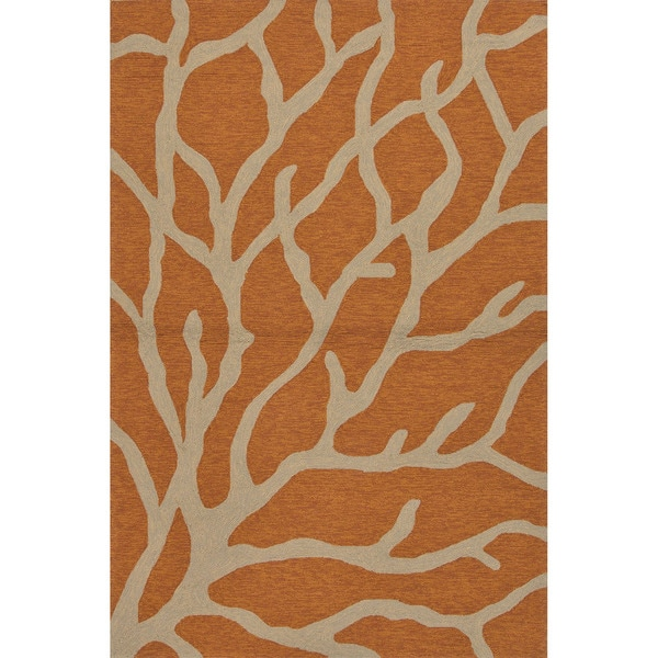 Abstract Pattern Orange/ Grey Area R