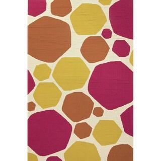 Geometric Pattern Purple/ Gold Area