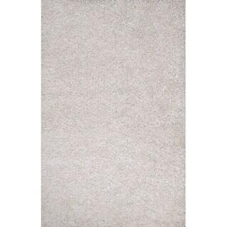 Vance Handmade Solid White Area Rug (2' X 3')