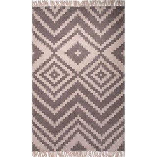 Southwestern/Tribal Pattern Brown Polyester Area Rug (3'6x5'6)