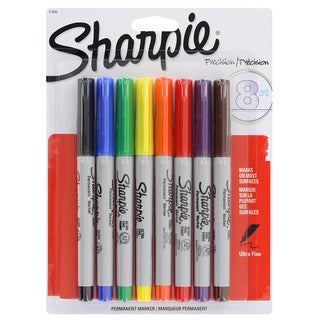 Sharpie Precision Ultra Fine Point Assorted Permanent Markers (Pack of 8)