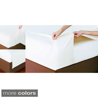 400 Thread Count Non-slip Fitted Top Sheet Set
