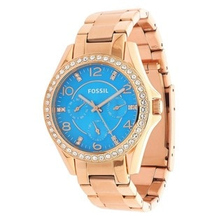 Fossil Women's ES3569 Riley Stainless Steel Rose Gold-Tone Watch