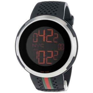 Gucci Men's YA114103 'I-Gucci' Black Digital Watch