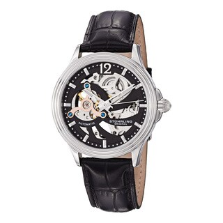 Stuhrling Original Men's Delphi Helix Mechanical Leather Strap Watch
