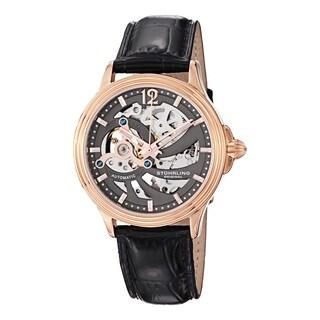Stuhrling Original Men's Delphi Helix Mechanical Leather Strap Watch