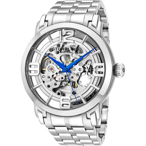 14086a918 Stuhrling Original Men's Winchester 44 Elite Automatic Stainless Steel  Bracelet Watch