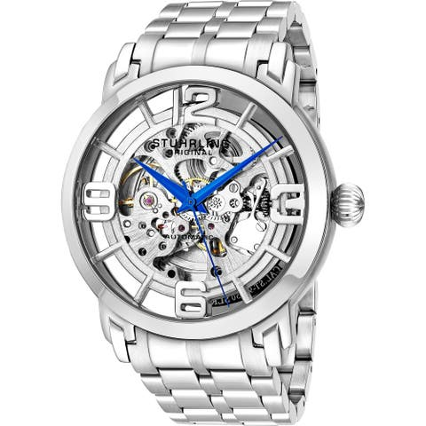Stuhrling Original Men's Winchester 44 Elite Automatic Stainless Steel Bracelet Watch