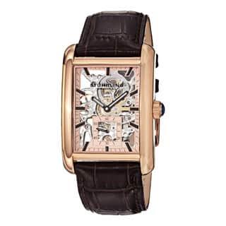 Stuhrling Original Men's Gatsby Plaza Mechanical Leather Strap Watch|https://ak1.ostkcdn.com/images/products/9214731/P16384350.jpg?impolicy=medium