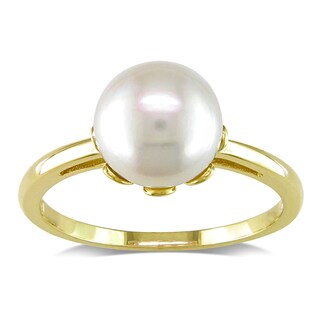 Miadora 14k Yellow Gold Cultured Freshwater Pearl Ring (8.5-9 mm)