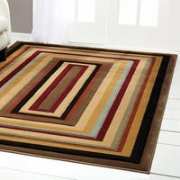 Home Dynamix Evolution Collection Contemporary Cream Area Rug - 7'10 x 10'10