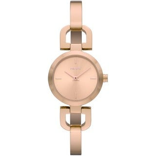 DKNY Women's Reade Round Rose-Tone Bracelet Watch