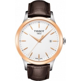 Tissot Couturier Men's T9124104601100 Brown Leather Watch