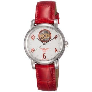 Tissot Women's T0502071611603 Red Heart Automatic Watch|https://ak1.ostkcdn.com/images/products/9214879/P16384508.jpg?impolicy=medium