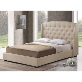Ipswich Light Beige Linen Modern Platform Bed