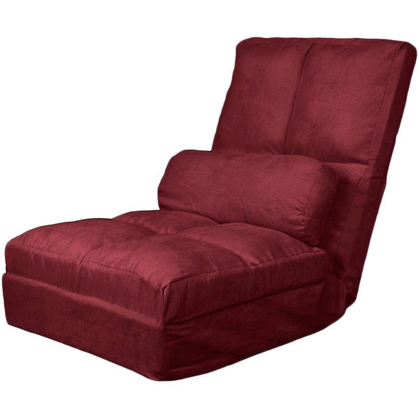 Cosmo Click Clack Convertible Futon Pillow top Flip Chair