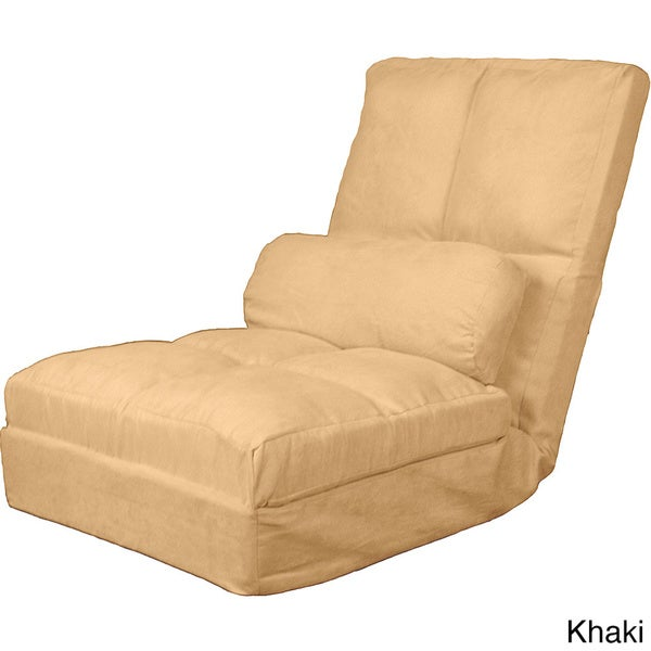 Marvelous Cosmo Click Clack Convertible Futon Pillow Top Flip Chair Sleeper Bed    Free Shipping Today   Overstock.com   16384496