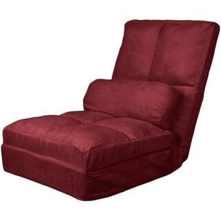 Porch Den Canton Luzeme Convertible Futon Pillowtop Flip Chair Sleeper Bed