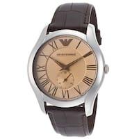 Emporio Armani Men's  Classic Brown Leather Watch