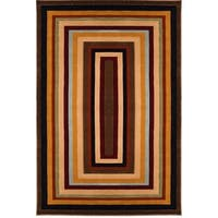 Home Dynamix Evolution Collection Contemporary Brown-Multi Area Rug - 5'3 x 7'7