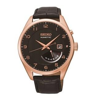 Seiko Men's SRN054 Rose Goldtone Kinetic Power Reserve Indicator Watch
