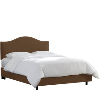 Skyline Furniture Nail Button Bed in Velvet Chocolate