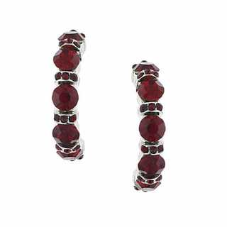 Glass Festive Hoop Push Back Earrings