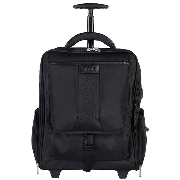 Shop Bugatti Rolling Black 17 Inch Laptop Backpack Free