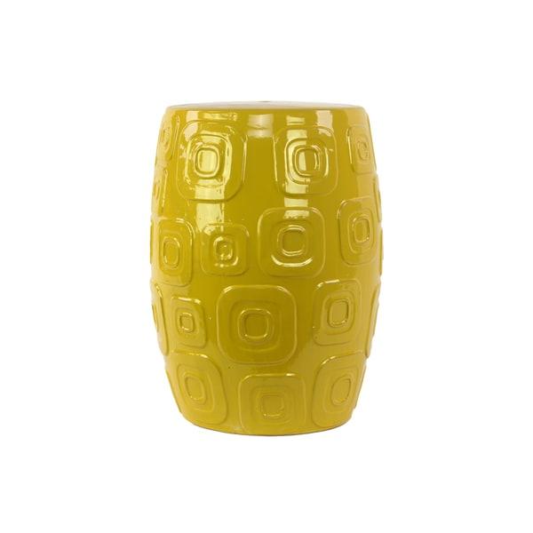 Ceramic Decorative Yellow Stool