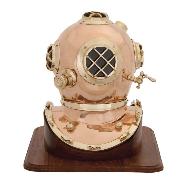 US Navy Mark V Brass Diving Helmet Decor