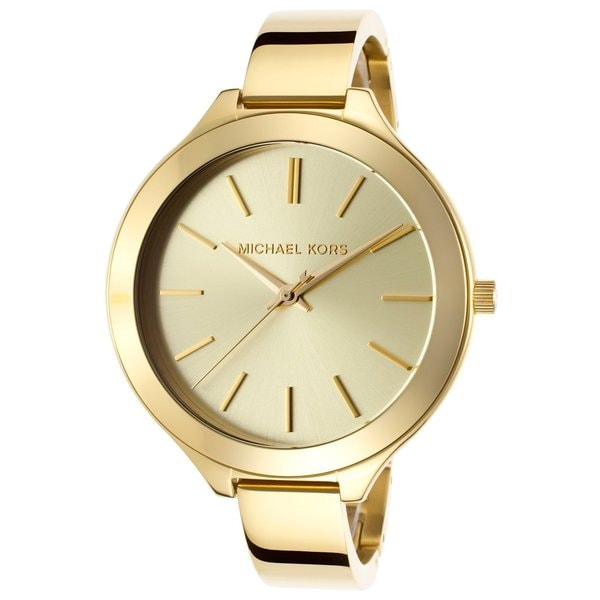 e94fc5c1124f Shop Michael Kors Women s MK3275 Slim Runway Watch - Gold - Free ...