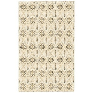 Nisha Contemporary Cream Area Rug (4' x 6')