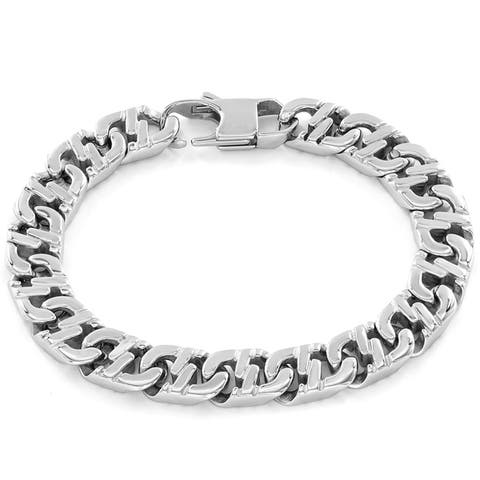 Crucible Stainless Steel Mariner Link Bracelet