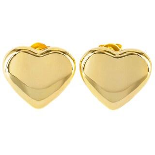 Elya Stainless Steel Heart Stud Earrings
