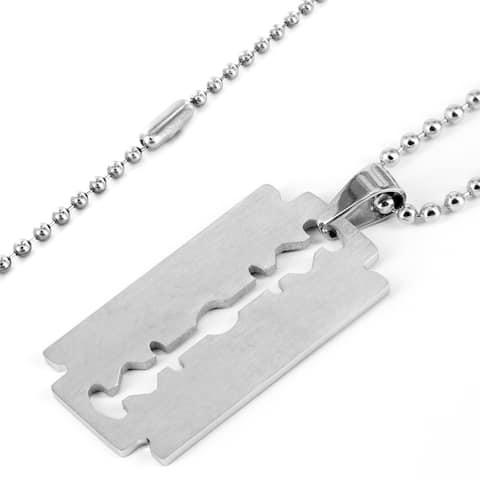 Stainless Steel Men's Cut Edge Pendant