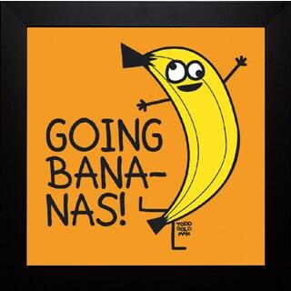 Todd Goldman 'Going Bananas!' Framed Artwork