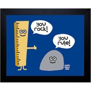 Todd Goldman 'You Rock You Rule' Framed Artwork