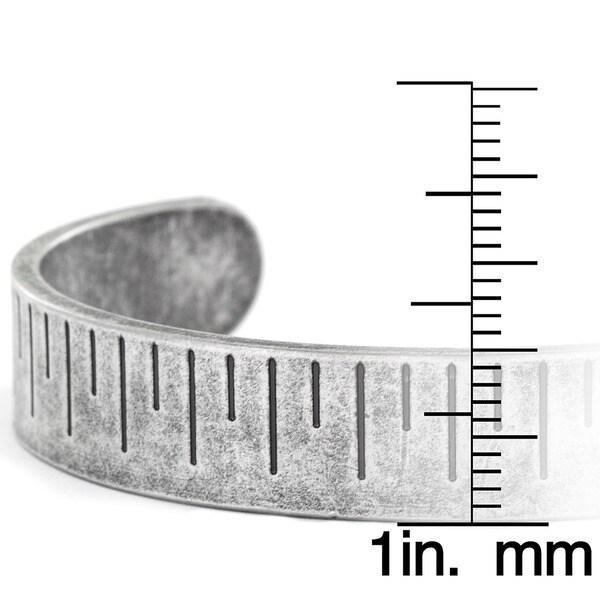 Crucible Silvertone Antiqued Cuffed Bracelet