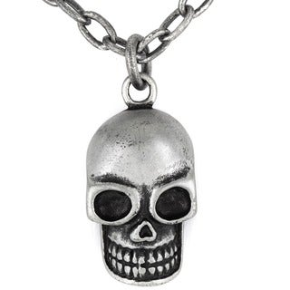 Crucible Antiqued Skull Pendant Necklace