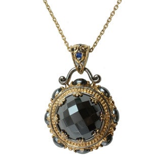 Michael Valitutti Two-tone Hematite and Blue Sapphire Necklace
