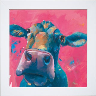 Peter Hawkins 'Pink Lady (Cow)' Framed Artwork