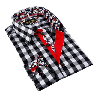 Banana Lemon Men's Black and White Gingham Button-down Shirt