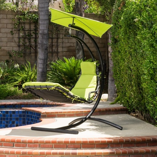 La Vida Steel Hanging Chair by Christopher Knight Home - Green